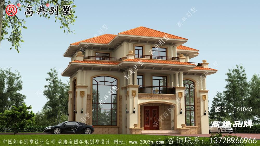 经典大方欧式三层复式别墅设计图纸