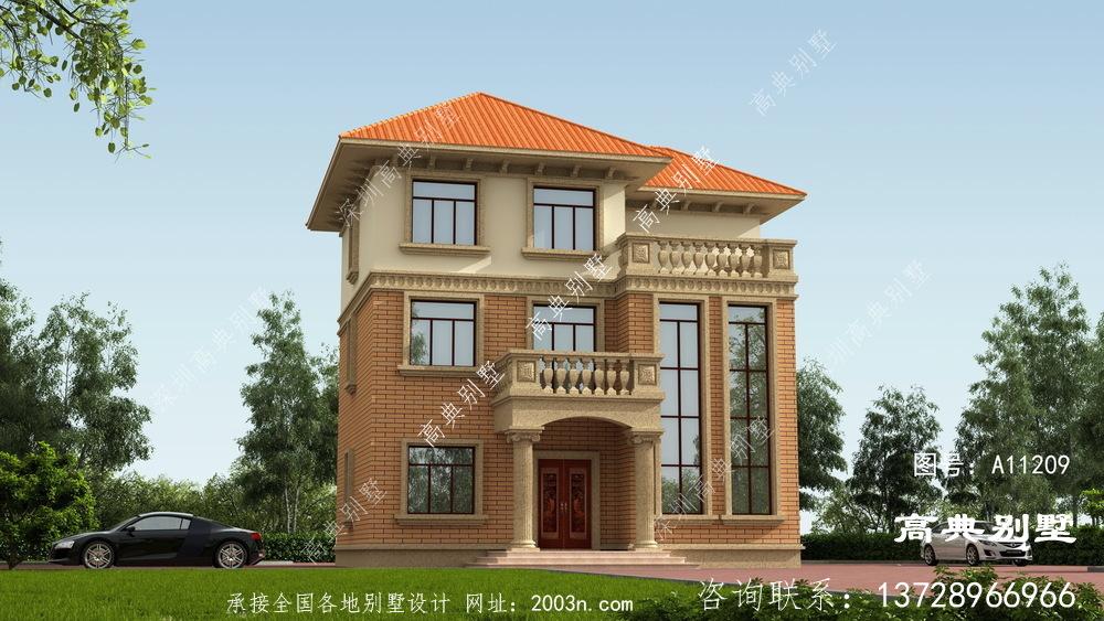 三层欧式别墅,外观凹凸有致太漂亮了