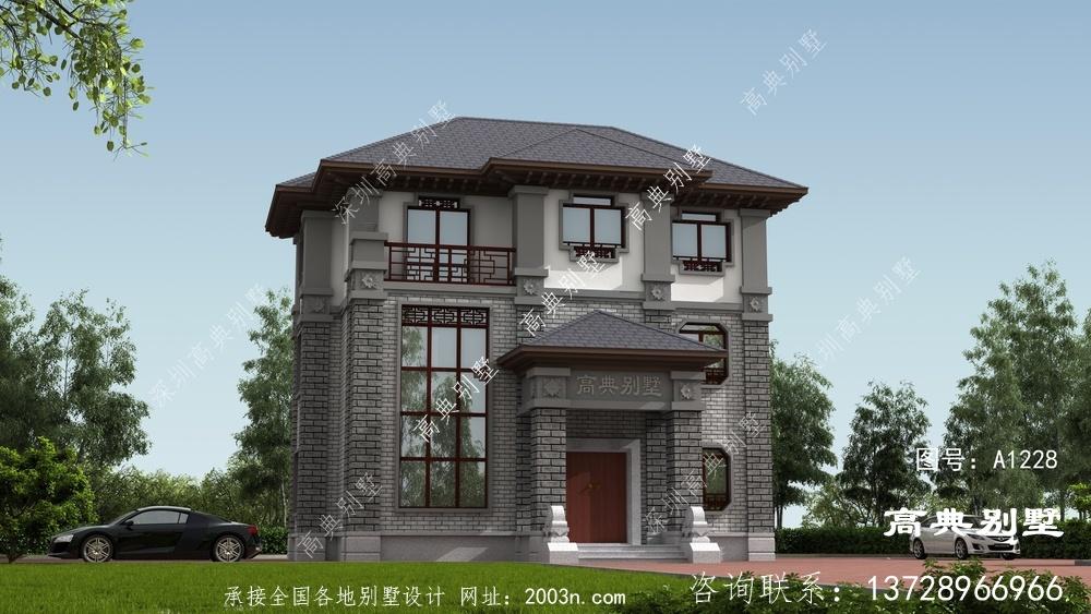 中式别墅,白墙粉黛不愧是中式最美的风采