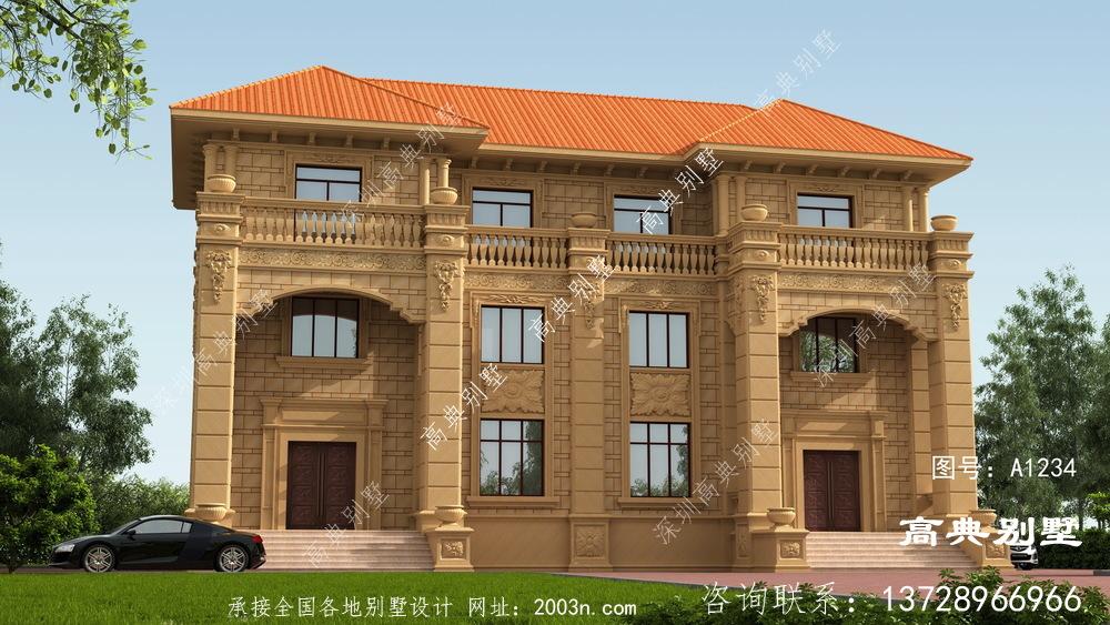 这样建欧式双拼三层别墅,奢华精致又布局合理