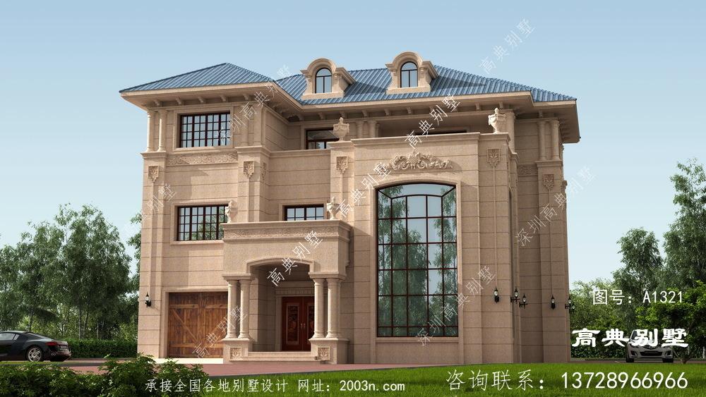 最新款别墅外观图设计图,外型尽展奢侈大气
