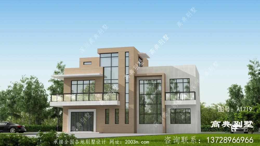 清新而自然的三层现代风格别墅