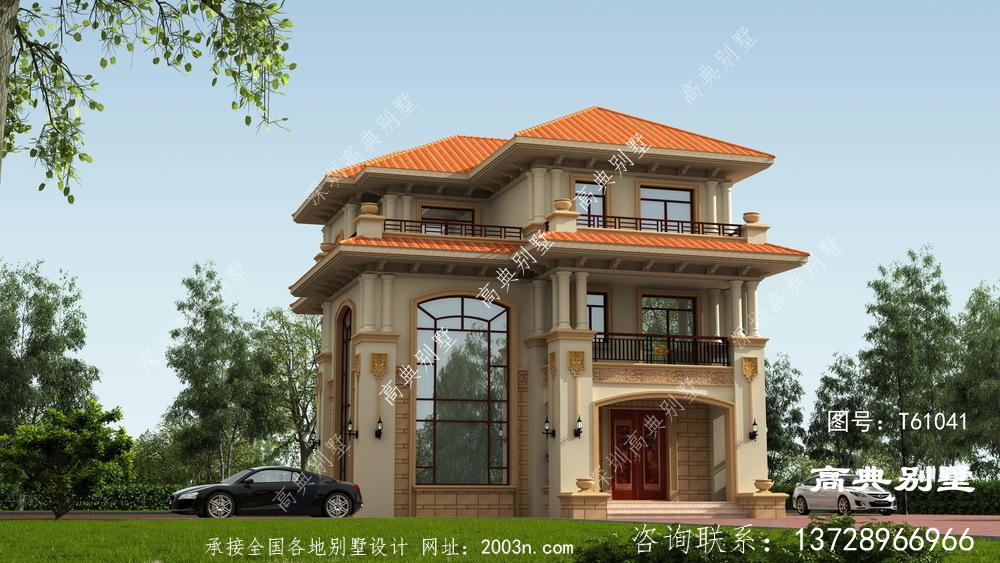 豪华欧式三层复式客厅别墅设计图