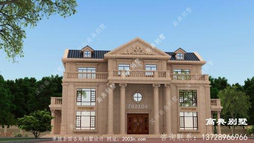 欧式风格三层豪宅石材