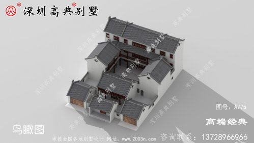 新中式别墅设计图,满