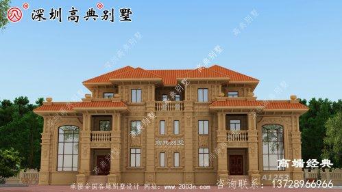 三层欧式别墅设计图,