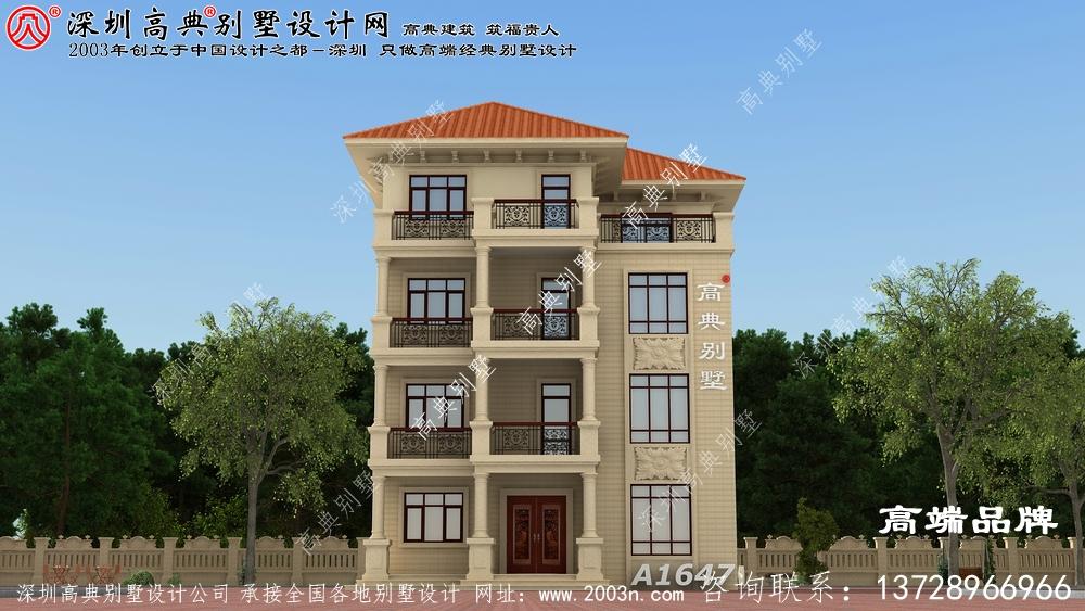 四层欧式别墅设计,建好你就是村里的土豪