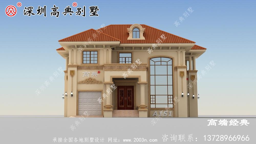 农村自建房二层别墅设计图