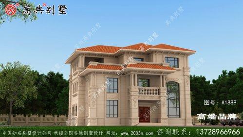 欧式石材三层别墅户型