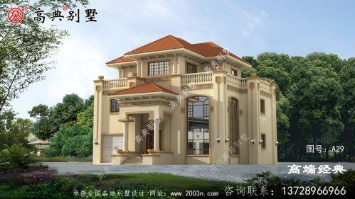 乡村欧式三层别墅设计